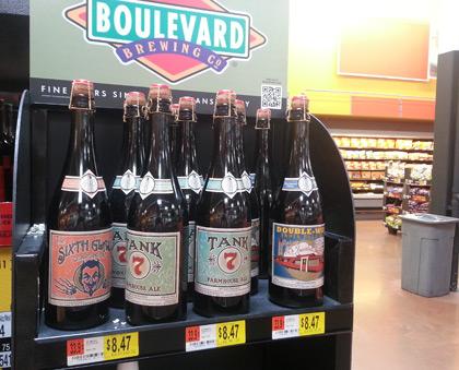 Boulevard Smokestack beers at Walmart