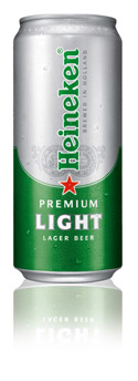 Heineken Light slim can