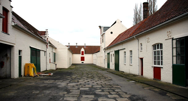 Courtyard at Saint Sixtus of Westvleteren