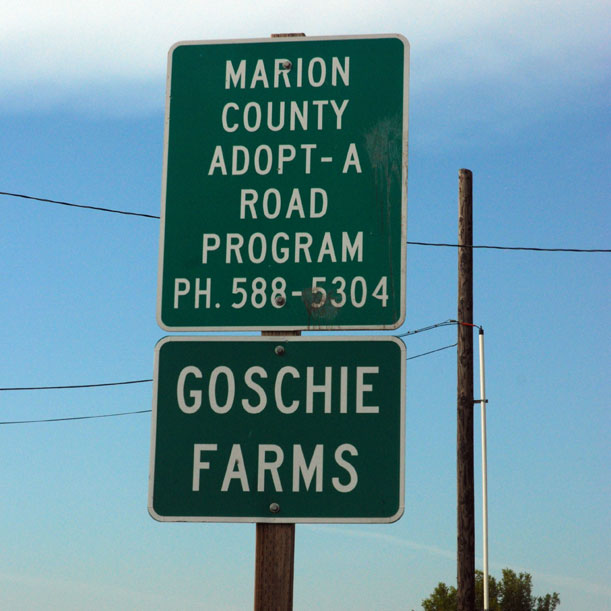 Goschie Farms 'Adopt-A-Road'