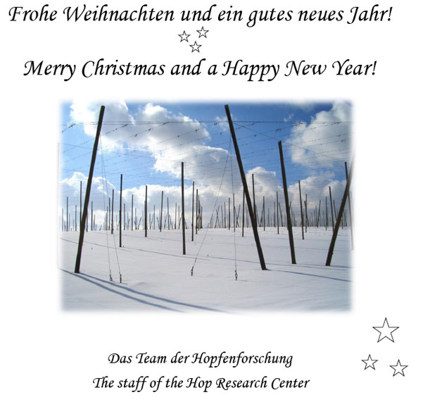 Season's greetings from the Hop Research Center in Germany