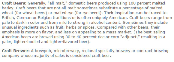 Craft beer definition