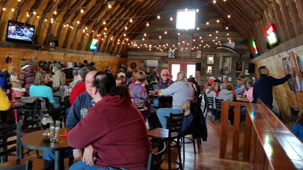 Piney River Brewing - inside the barn