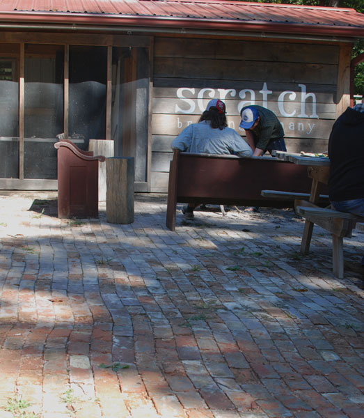 Patio at Scratch Brewing