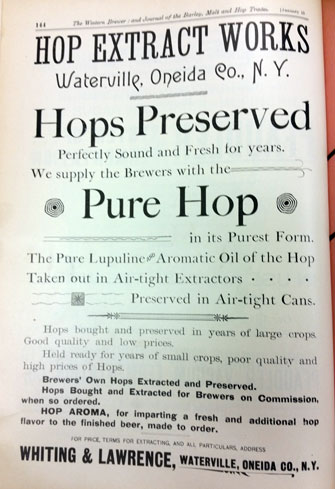 Western Brewer magazine advertisement for hop extract