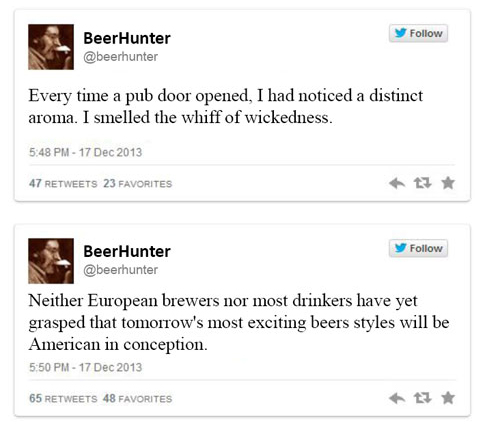Michael Jackson Beer Hunter tweets