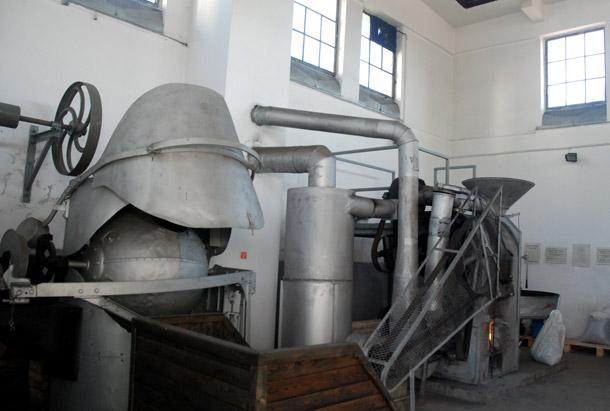 Malt roaster at Zywiec Brewery in Zywiec, Poland