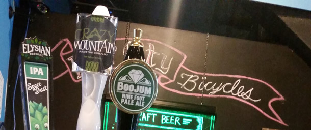 Crazy Mountain beer on tap in Asheville, NC