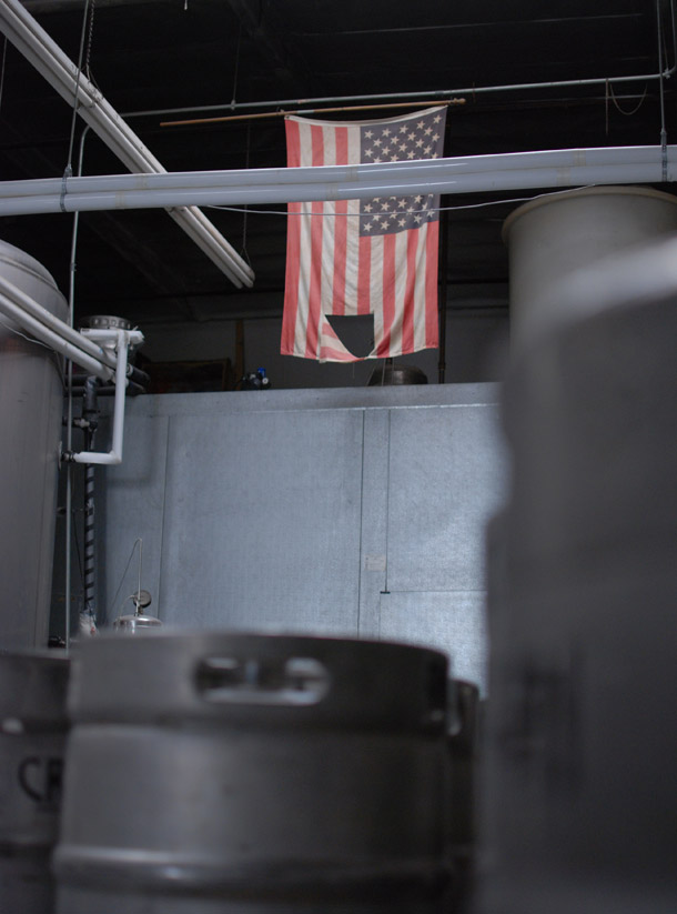 Flag at Craftsman Brewing, Pasadena, California