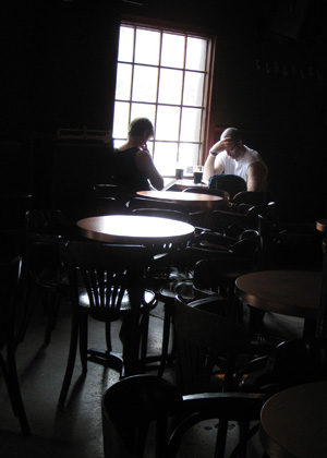 Two men in a pub