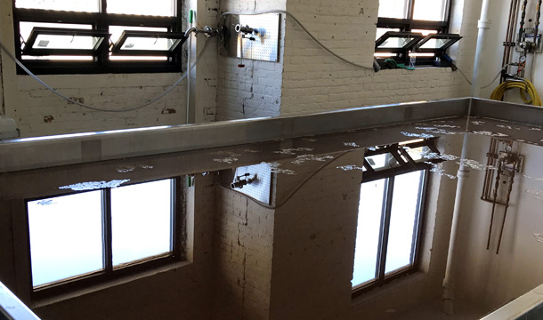 Dovetail Brewery coolship